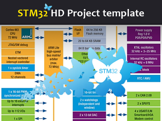 STM32 Project template for HD devices